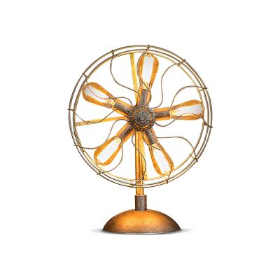 Rustic Britto Fan Lamp
