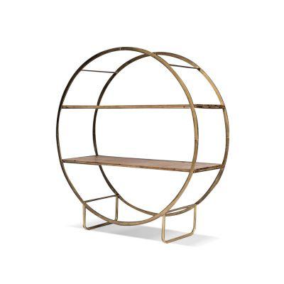 Leniel Wood & Metal Shelf