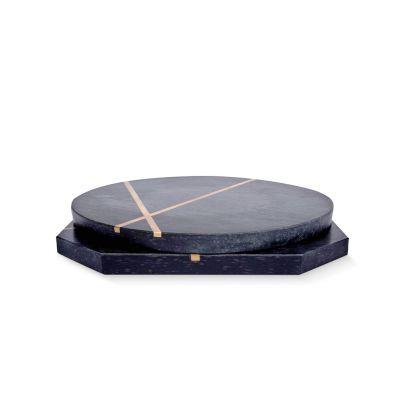Eden Black Marble Platters